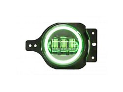 4-Inch LED Blacked Out Fog Lights with Bluetooth RGB Control (20-22 Jeep Gladiator JT)