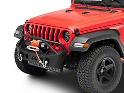 Fab Fours Stubby Front Bumper with Pre-Runner Guard; Matte Black (20-22 Jeep Gladiator JT)