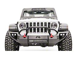 Fab Fours Vengeance Front Bumper; Matte Black (18-22 Jeep Wrangler JL)