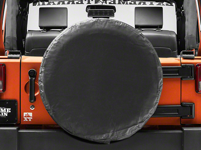 Smittybilt Spare Tire Cover; Black; 30 to 32-Inch Tire Cover (87-20 Jeep Wrangler YJ, TJ, JK & JL)