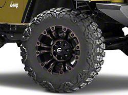 Fuel Wheels Vapor Matte Black Machined Wheel; 18x9 (97-06 Jeep Wrangler TJ)