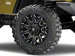 Fuel Wheels Battle Axe Gloss Black Milled Wheel; 20x9 (97-06 Jeep Wrangler TJ)
