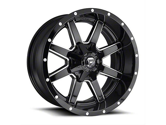 Fuel Wheels Maverick Gloss Black Milled Wheel; 17x9 (97-06 Jeep Wrangler TJ)