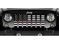 Grille Insert; American Black and White Corrections Nurse Stripe (76-86 Jeep CJ5 & CJ7)
