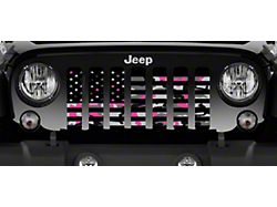 Grille Insert; American Pink Camo (76-86 Jeep CJ5 & CJ7)