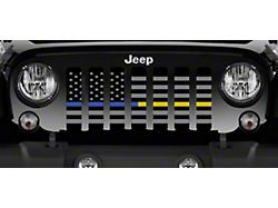 Grille Insert; American Tactical Back the Blue and Gold (18-22 Jeep Wrangler JL)
