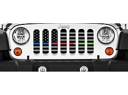 Grille Insert; American Tactical Back the Blue, Fire Department and Military (18-22 Jeep Wrangler JL)