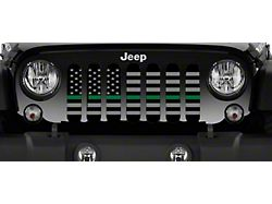 Grille Insert; American Tactical Back the Military (76-86 Jeep CJ5 & CJ7)