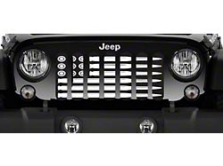 Grille Insert; Ammo Flag Black and White (76-86 Jeep CJ5 & CJ7)