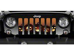 Grille Insert; Angry Pumpkins (07-18 Jeep Wrangler JK)