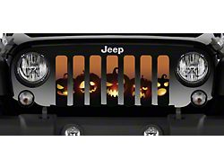 Grille Insert; Angry Pumpkins (18-22 Jeep Wrangler JL)