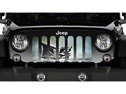 Grille Insert; Argh Black Pirate Flag (76-86 Jeep CJ5 & CJ7)