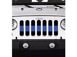 Grille Insert; Back the Blue Line (20-22 Jeep Gladiator JT)