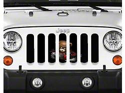 Grille Insert; Beary Scary (20-22 Jeep Gladiator JT)