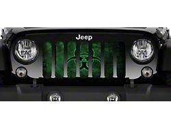 Grille Insert; Biohazard Glow (18-22 Jeep Wrangler JL)