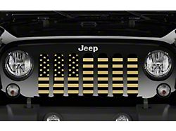 Grille Insert; Black and Gold American Flag (20-22 Jeep Gladiator JT)