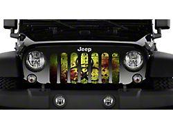 Grille Insert; Bloody Biohazard (07-18 Jeep Wrangler JK)