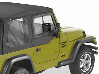 Bestop Upper Door Sliders for Factory Soft Top - Black Denim (97-06 Jeep Wrangler TJ)