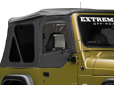 Rugged Ridge Upper Soft Door Kit - Black Denim (97-06 Wrangler TJ w/ Factory Soft Top)