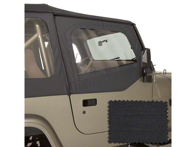 Rugged Ridge Upper Soft Door Kit - Black Diamond (88-95 Wrangler YJ)