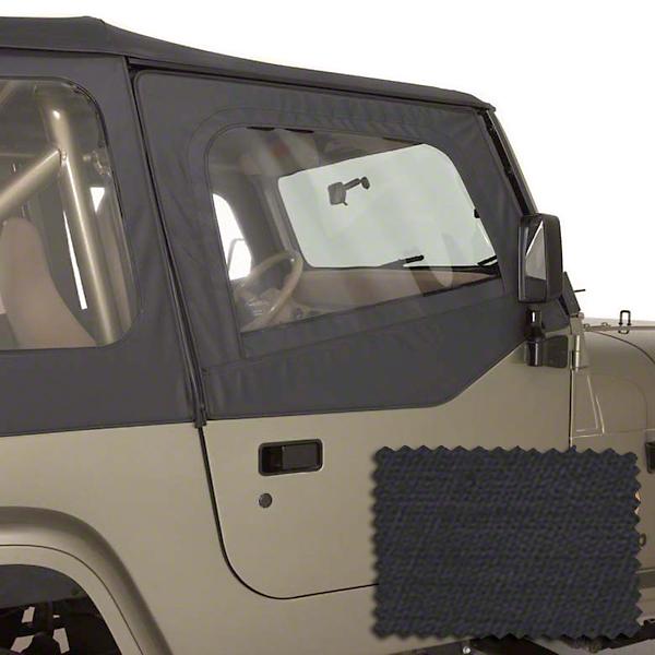 Rugged Ridge Upper Soft Door Kit - Black Diamond (88-95 Jeep Wrangler YJ)