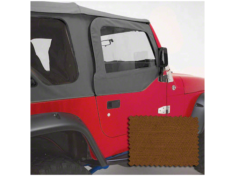 Rugged Ridge Upper Soft Door Kit - Dark Tan (97-06 Jeep Wrangler TJ w/ Factory Soft Top)
