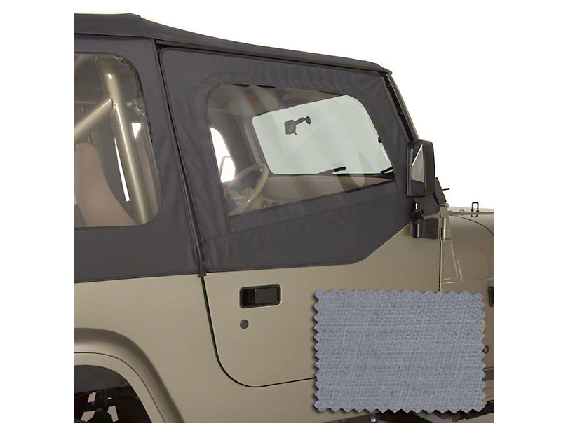Rugged Ridge Upper Soft Door Kit - Gray (88-95 Jeep Wrangler YJ)