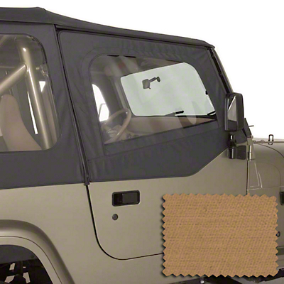 Rugged Ridge Upper Soft Door Kit - Spice (88-95 Jeep Wrangler YJ)