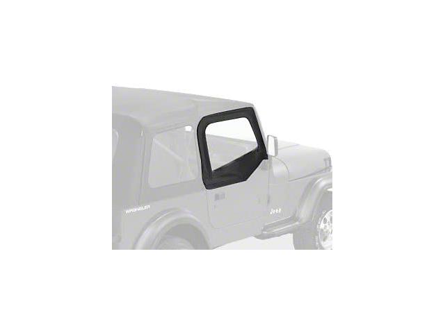 Bestop Upper Soft Doors for Supertop; Black Denim (88-95 Jeep Wrangler YJ)