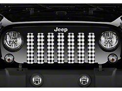 Grille Insert; White Buffalo Plaid (76-86 Jeep CJ5 & CJ7)