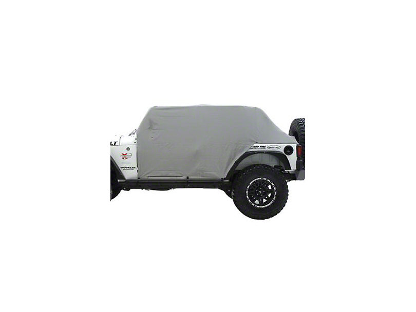 Smittybilt Water Resistant Cab Cover w/ Door Flaps - Gray (87-91 Jeep Wrangler YJ)