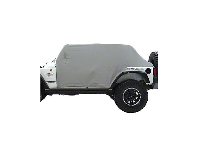 Smittybilt Water Resistant Cab Cover with Door Flaps; Gray (87-91 Jeep Wrangler YJ)