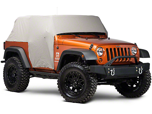Smittybilt Water Resistant Cab Cover with Door Flaps; Gray (07-18 Jeep Wrangler JK 2 Door)