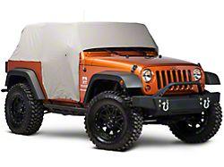 Smittybilt Water Resistant Cab Cover w/ Door Flaps - Gray (07-18 Jeep Wrangler JK 2 Door)