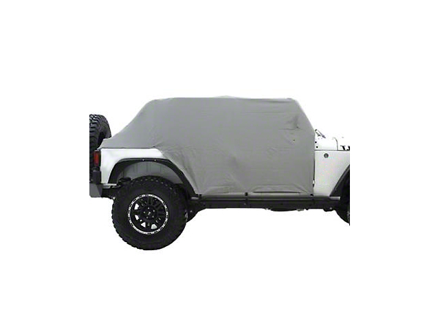 Smittybilt Water Resistant Cab Cover w/ Door Flaps - Gray (07-18 Jeep Wrangler JK 4 Door)