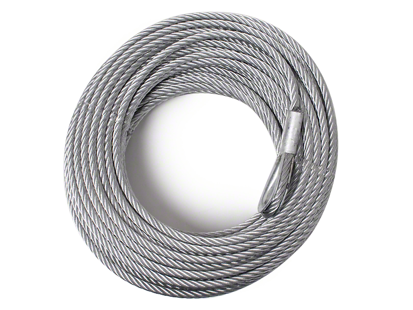Rugged Ridge 10,500 lb. Winch Replacement Steel Cable - 23/64 in. x 94 ft.