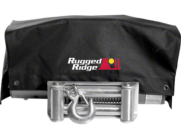 Rugged Ridge 8,500 lb. or 10,500 lb. Winch Cover (87-19 Jeep Wrangler YJ, TJ, JK & JL)