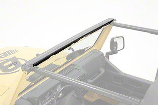 Bestop Drill-In Windshield Channel for Strapless Bikini Top (97-02 Wrangler TJ)