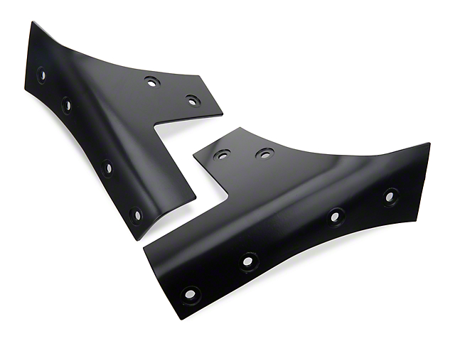 Rugged Ridge Windshield Hinge Brackets - Black (07-18 Jeep Wrangler JK)