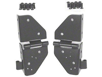 Rugged Ridge Black Windshield Hinge - Pair (87-95 Wrangler YJ)