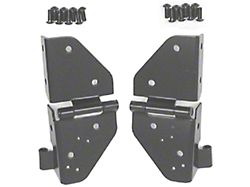 Rugged Ridge Black Windshield Hinge - Pair (87-95 Jeep Wrangler YJ)
