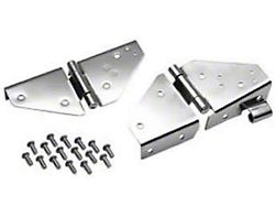Rugged Ridge Stainless Steel Windshield Hinge - Pair (87-95 Jeep Wrangler YJ)