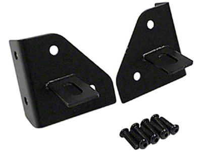 Rugged Ridge Windshield Light Mounting Brackets - Black