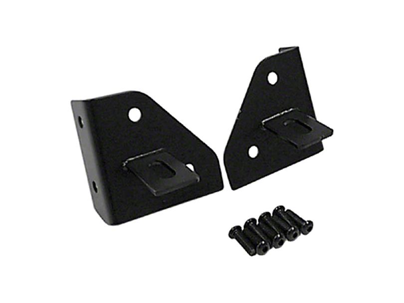 Rugged Ridge Windshield Light Mounting Brackets - Black (87-95 Jeep Wrangler YJ)