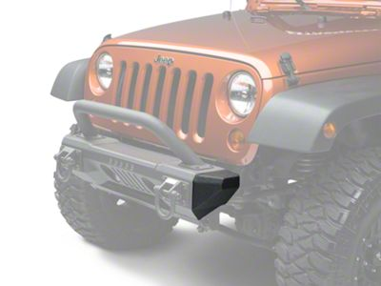 Add Rugged Ridge XHD Aluminum Front Bumper Ends (07-17 Wrangler JK)