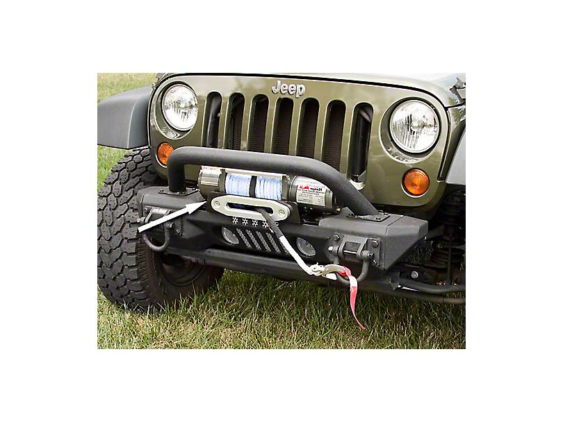 Rugged Ridge XHD Aluminum Front Bumper Winch Plate (07-18 Wrangler JK)