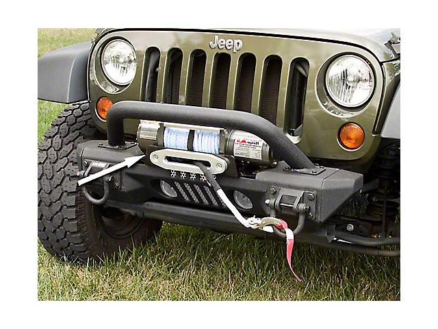 Rugged Ridge XHD/All-Terrain Front Bumper Winch Plate (07-18 Jeep Wrangler JK)