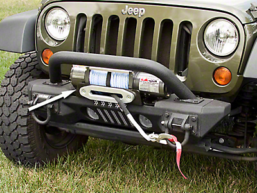 Rugged Ridge XHD Aluminum Front Bumper Winch Plate (07-18 Jeep Wrangler JK)