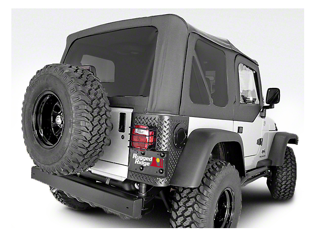 Rugged Ridge XHD Sailcloth Soft Top with Tinted Windows; Black Diamond (97-06 Jeep Wrangler TJ, Excluding Unlimited)