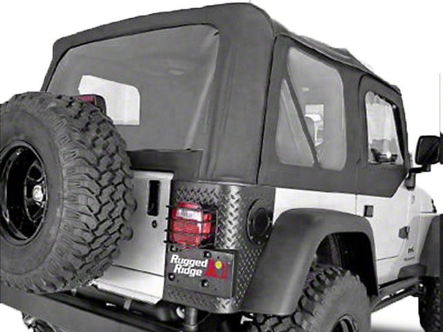 Rugged Ridge XHD Replacement Soft Top with Tinted Windows and Door Skins; Black Diamond (03-06 Jeep Wrangler TJ, Excluding Unlimited)